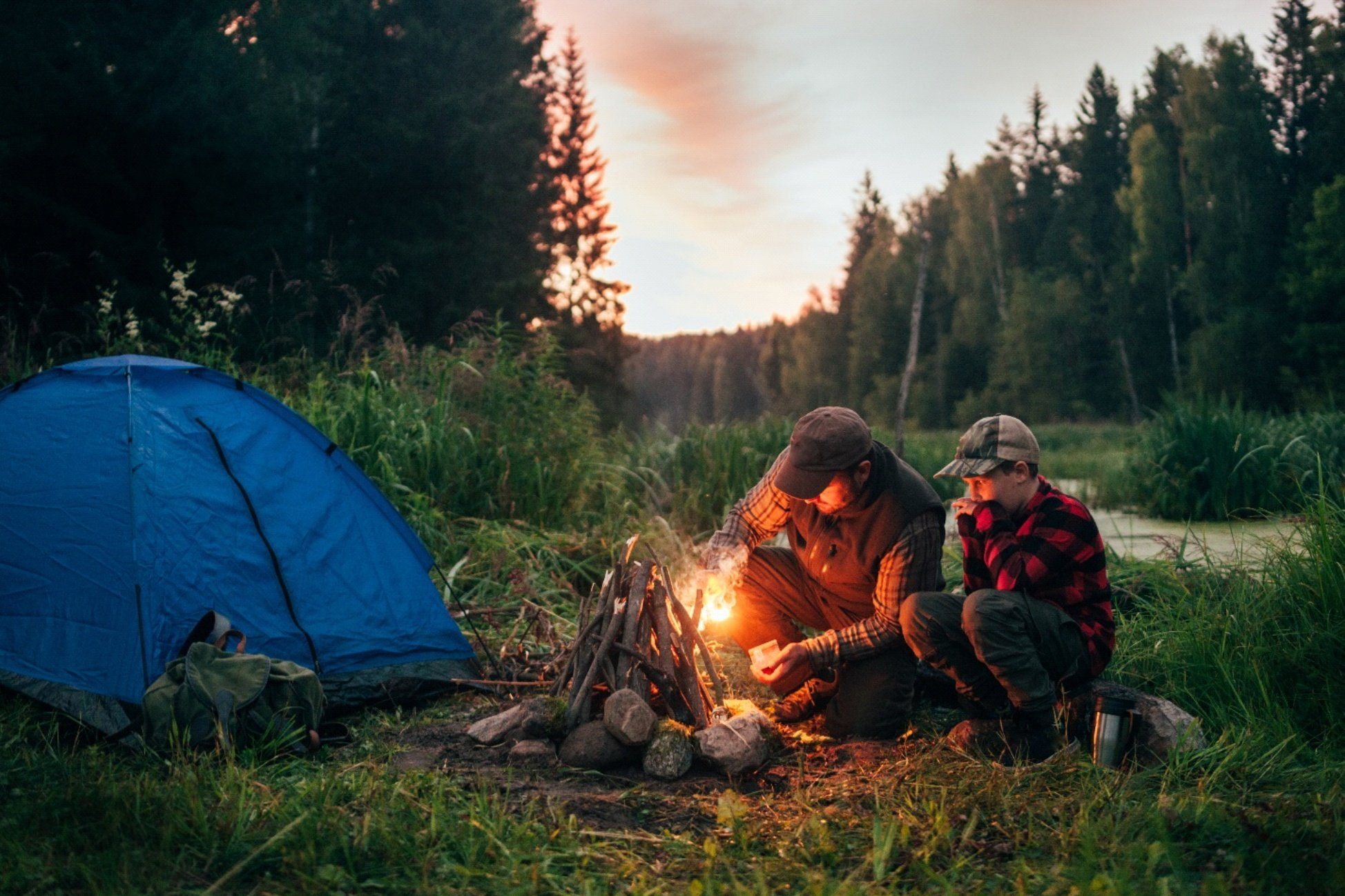 Camping as a family